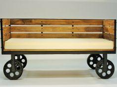 Sofa Design, Furniture Design, Sofa Bench, Rustic Design, Outdoor Furniture, Outdoor Decor, Vintage, Home Decor, Sofa Layout