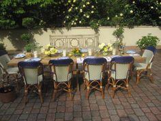 Dining alfresco is my favorite summer time activity. The reclaimed teak chamberlain table is finally mine and I look forward to many wonderful evenings with friends and family. Its not just furniture, its...living.  Dovecote Decor