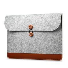 Wool Felt Notebook Laptop Sleeve Bag Case For Macbook Air Pro Retina inch Leather Sleeve Case Bag Box Notebook Sleeve, Notebook Bag, Notebook Laptop, Business Folder, Diy Laptop, Laptop Bags, Macbook Air 13 Case, Macbook Pro, Mac Book
