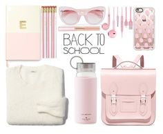 """Back to School"" by juliehalloran ❤ liked on Polyvore featuring Madewell, The Cambridge Satchel Company, Kate Spade, Erdem, Casetify, Oscar de la Renta, backpack and inmybackpack"