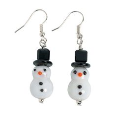 Snowman Lampwork Earring Kit - OrientalTrading.com  #OrientalTrading.com #ChristmasWishList