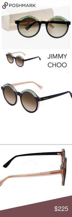 Jimmy Choo Glam F-S-OTF LP 52mm Round Sunglasses Jimmy Choo Glam F-S-OTF LP 52mm... Jimmy Choo Sunglasses, Blue Sunglasses, Sunglasses Accessories, Cat Eye Sunglasses, Women's Accessories, Black Faux Leather Jacket, Faux Leather Jackets, Brown Knee High Boots, Glitter Frame