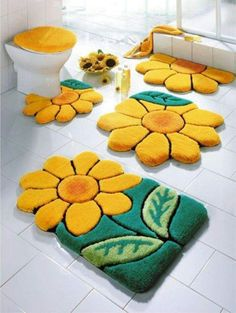 Sunflowers Bathroom Más