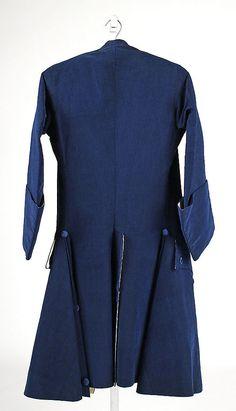 Coat (reverse), ca. 1765, British (probably), silk (c) Metropolitan Museum of Art