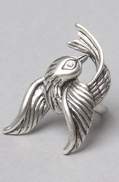 The Bird Ring in Silver by *Accessories Boutique. use rep code COOLY to save 20 %