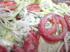 German Cucumber Salad: creamy, cucumber-y, dill-y, good