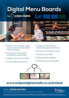 Wide range of Digital Menu Board solutions including USB Digital Menus, Cloud Digital Menus and LAN Digital Menus. Digital Menu Boards, Digital Tablet, Software, Management, Recipe, Menudo Recipe, Digital Menu, Recipies, Recipes