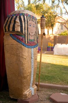 Photophore Décoration de table Egypte Pharaon Roi hiéroglyphes pyramides Egypt
