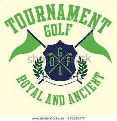 Golf Sports Graphic Design Vector Art - 156829277 : Shutterstock