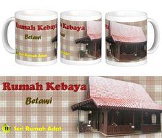 Mug Keramik tema seni budaya Indonesia, edisi khusus Rumah Kebaya - Betawi    Cocok buat hadiah / souvenir etnik nusantara.