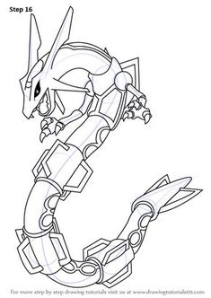 Learn How To Draw Rayquaza From Pokemon (Pokemon) Step By St.- Learn How To Draw Rayquaza From Pokemon (Pokemon) Step By Step … Learn How to Draw Rayquaza from Pokemon (Pokemon) Step by Step how to draw pokemon – Drawing Tips - Pokemon Charizard, 150 Pokemon, Pokemon Tips, All Pokemon Drawing, Pokemon Sketch, How To Draw Pokemon, Dragon Pictures, Pictures To Draw, Dark Art Drawings