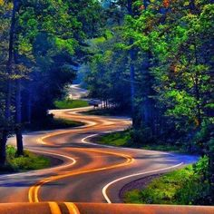 Beautiful road to North Port, Wisconsin