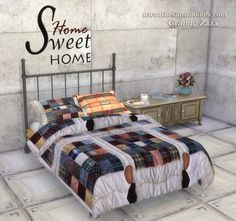 Blankets and pillows by Granny Zaza at The Sims Models • Sims 4 Updates