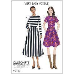 Buy Vogue Women's Dress Sewing Pattern, 9197 Online at johnlewis.com