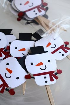 READY TO SHIP Snowman Christmas Themed Happy by Foolishworkerbee, $8.00