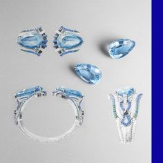 Take a closer look at the Fiore bracelet and its two exceptional pear-shaped aquamarines. Their crystalline blue is an ode to the fountains of Verona where the love story of Romeo and Juliet unfolds. I Love Jewelry, Art Deco Jewelry, Simple Jewelry, High Jewelry, Jewelry Accessories, Women Jewelry, Van Cleef Arpels, Van Cleef And Arpels Jewelry, Romeo Und Julia