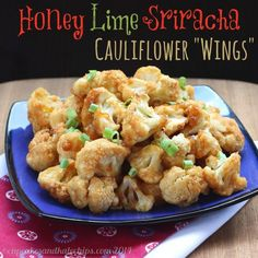 A little sweet, a little heat, Honey Lime Sriracha Glazed Cauliflower Wings are sticky little appetizers that will be devoured by everyone at your party.
