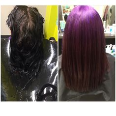 Reverse ombré purple and great hair ombré fancy funky #hairbytanyanapoli