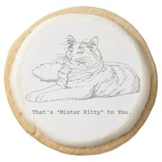 Mister Kitty to You Gourmet Shortbread Cookies Round Premium Shortbread Cookie  Check out today's cookie SALE!  #cats  #cookies
