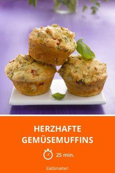 Herzhafte Gemüsemuffins - smarter - Zeit: 25 Min. | eatsmarter.de