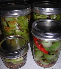 "Tomolives, Pickled Green Tomatoes, or ""What to do with excess veggies"""