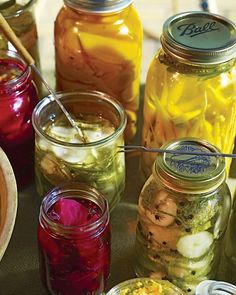 Pickled Vegetables  This easy pickled vegetable recipe uses the same brine and spice mixture for pickled cucumbers, carrots, and beets. It's easy to make a batch of one kind -- or one of each for a large crowd. These tasty pickles will keep up to one month in the refrigerator.  Get the Pickled Vegetables Recipe