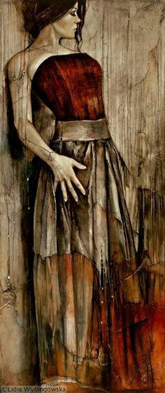 Between The Lines - Lidia Wylangowska - Oil painting
