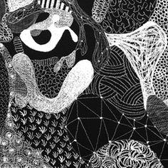 Motifs, trames, cellules. Voici le travail de Philippe Baudelocque des dessins d'animaux réalisés à la craie. FOU !