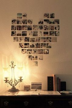 Started this with our pictures, but I prefer them in frames lol