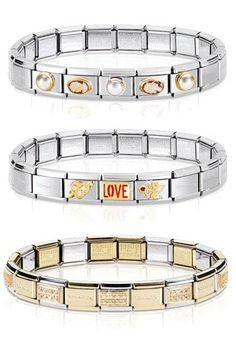 Examples of Nomination bracelets to inspire you... Like our Facebook pagefor more inspiration: https://www.facebook.com/InutiDesignerJewelleryLtd