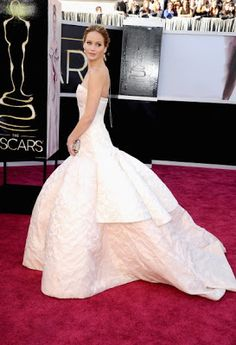 Jennifer  Lawerence in Dior. I Want this to be my wedding dress!!