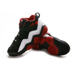 For Sale Adidas Top Ten 2000 Mens Basketball Shoes - Black/White/Red $67.90