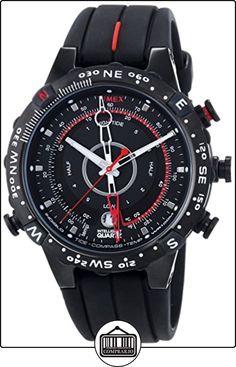 Timex Expedition T45581 - Reloj de caballero de cuarzo, correa de silicona color negro (con brújula y luz) de  ✿ Relojes para hombre - (Gama media/alta) ✿