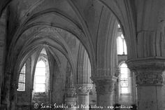 Columns and rib vaulting in La Chapelle Church