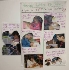 Des exemples de tableaux d'ancrage – L'atelier d'écriture au primaire First Grade, Grade 1, Success Criteria, Visible Learning, Writing Anchor Charts, Bulletins, School 2017, Writer Workshop, Teaching French