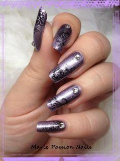 Nail Art Marie passion nails: Nail art arabesques fleuries