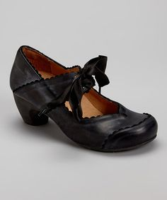 20441086ae7c Black Nora Leather Pump by Sheridan Mia  zulilyfinds. Looks really  comfortable and stable for