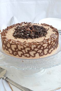 Whisk Affair: Chocolate and Coffee Cake with Chocolate Swiss Meringue Buttercream