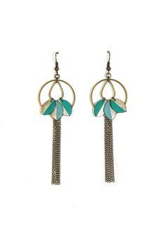 Boucles d'oreille feuilles de cuir - bleu glacier, turquoise et platine : Boucles d'oreille par ateliermaimartin