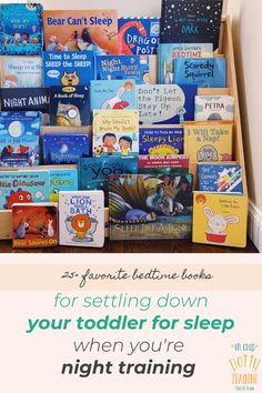 When you're looking ahead to night training, one of the important factors for success is how easy your child goes down for bed (that relates to their circadian rhythm). In this ultimate night training guide, I include 25+ favorite bedtime reads to help settle down your toddler for sleep (and dry beds). #ohcrappottytraining #pottytrainingtips #bedtimebooks #toddlerbooks Toddler Potty Training, Potty Training Tips, What Is Bear, Best Potty, Bedtime Reading, Free Diapers, Toddler Books, Parenting Toddlers, How To Know