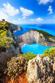 Navagio Bay, Zakynthos Island, Greece. Look at that blue water!