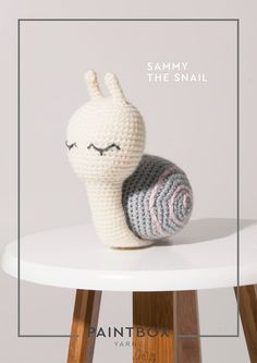Sammy the Snail in Paintbox Yarns - DK-CRO-TOY-006 - Downloadable PDF. Discover more patterns by Paintbox Yarns at LoveKnitting. The world's largest range of knitting supplies - we stock patterns, yarn, needles and books from all of your favourite brands.