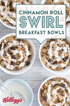 Check out this recipe for Cinnamon Roll Swirl Breakfast Bowls for a better-for-you twist on your favorite breakfast pastry. Kellogg's® Raisin Bran Crunch® cereal comes together with Greek yogurt, cinnamon, and honey to create one irresistible dish that's great for those busy back-to-school mornings. Click here for the full, easy recipe.