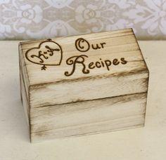 Personalized Recipe Box First Christmas Wedding Anniversary Gift @AKapp42