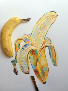 "noelbadgespugh: "" banana study #5 """