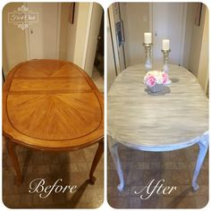 Painted kitchen tables - How to turn your table into a Farm Table – Painted kitchen tables Refurbished Kitchen Tables, Painted Kitchen Tables, Refurbished Furniture, Kitchen Paint, Furniture Makeover, Home Furniture, Furniture Vintage, Plywood Furniture, Furniture Design