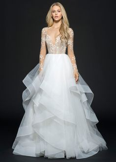 """Hayley Paige Fall 2016 """"Lorelei"""" bridal gown   Bridal Fashion   Bridal Gown available at Now & Forever Bridal Boutique"""