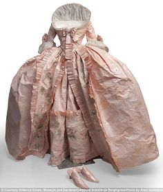 Pret-a-papier: The incredible period gowns recreated with paper, glue, paint - and not a stitch of fabric. An 18th century dress made by artist Isabelle de Borchagrave is part of an exhibition in which all the gowns are made entirely from paper