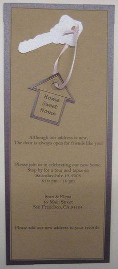 Housewarming invite idea