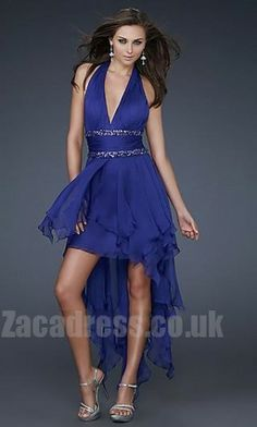 A-Line Cheap La Femme 16986 Royal Blue Prom Dresses